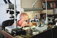 ... Frank Peter in Fusee Watch Repair Workshop